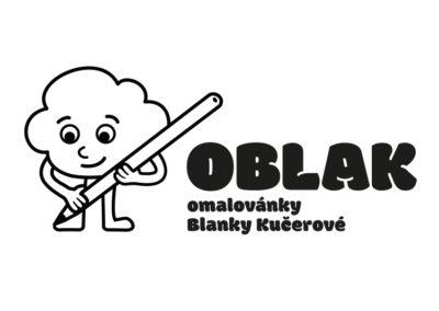 OBLAK, logo pro vydavatelku omalovánek, které jsou vždy zaměřeny na konkrétní město a jeho pamětihodnosti. Skvělý nápad. A navíc u každého obrázku je vícejazyčný popis.
