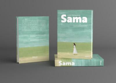 Návrh obálky včetně ilustrace pro román o samotě v nás i kolem nás.