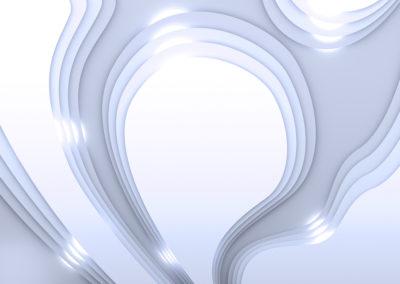 Vrstevnice v modré se světly